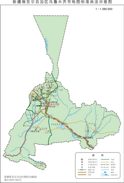 图-乌鲁木齐地图